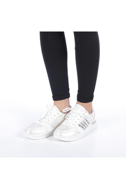 Pantofi sport dama Zilena albi
