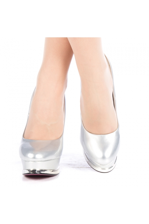 Pantofi dama Amurg argintii