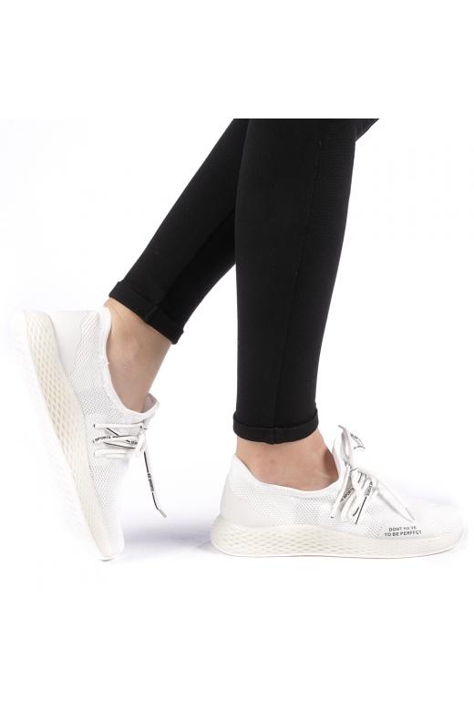 Pantofi sport dama Izolda albi