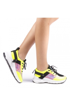Pantofi sport dama Peregrina galbeni