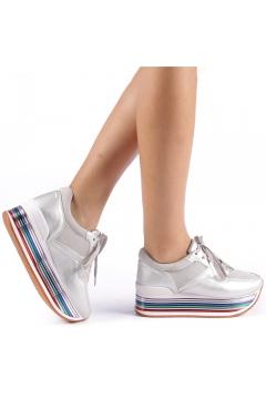 Pantofi sport dama Enrika argintii