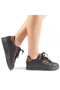 Pantofi sport Petrina negru leopard