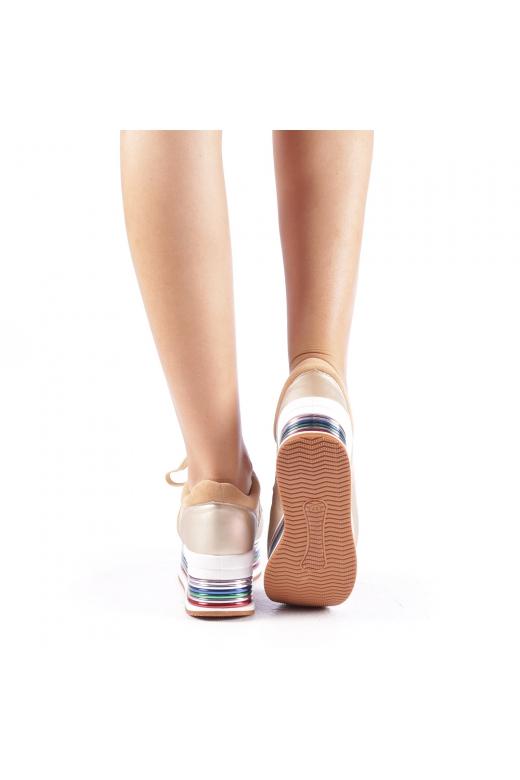 Pantofi sport dama Enrika aurii