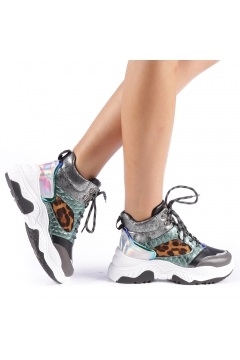 Pantofi sport dama Maryam gri inchis