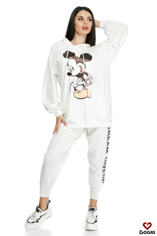 Hanorac Mickey Mouse White Bogas