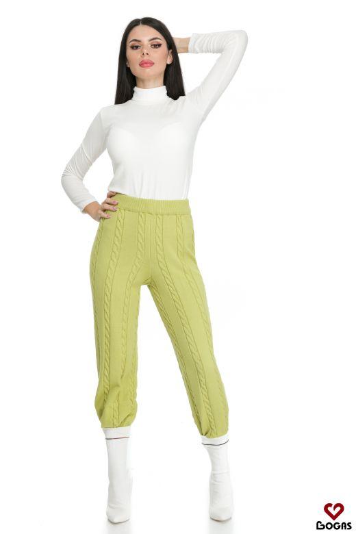 Pantaloni Edlyn Green Bogas