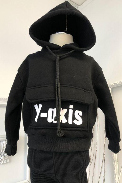 Hanorac Copii Yaxis Black Bogas