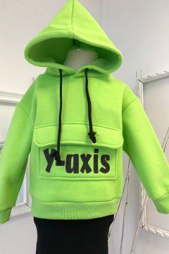 Hanorac Copii Yaxis Green Bogas