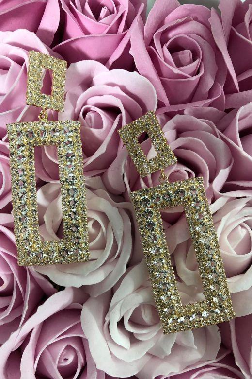 Cercei Dama Roseanne Gold Bogas