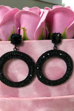 Cercei Dama Jewel Black Bogas