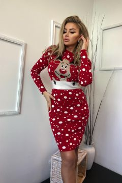 Rochie de Zi Brezel Red Bogas