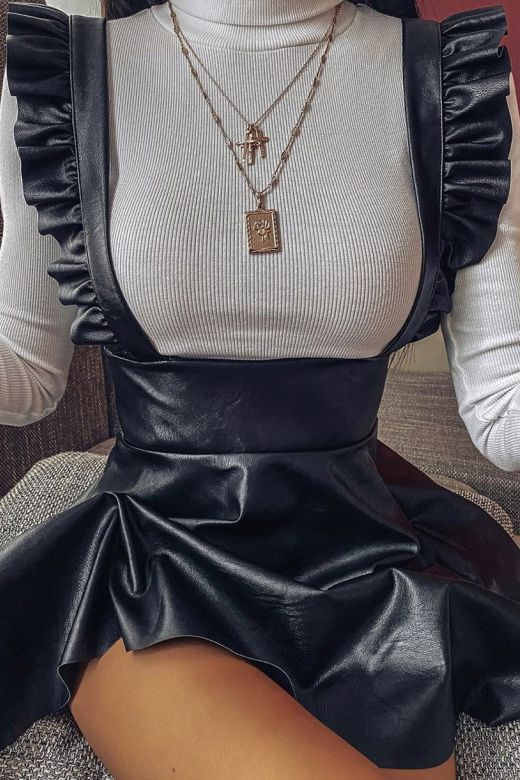 Rochie Sarafan Frill Black Bogas