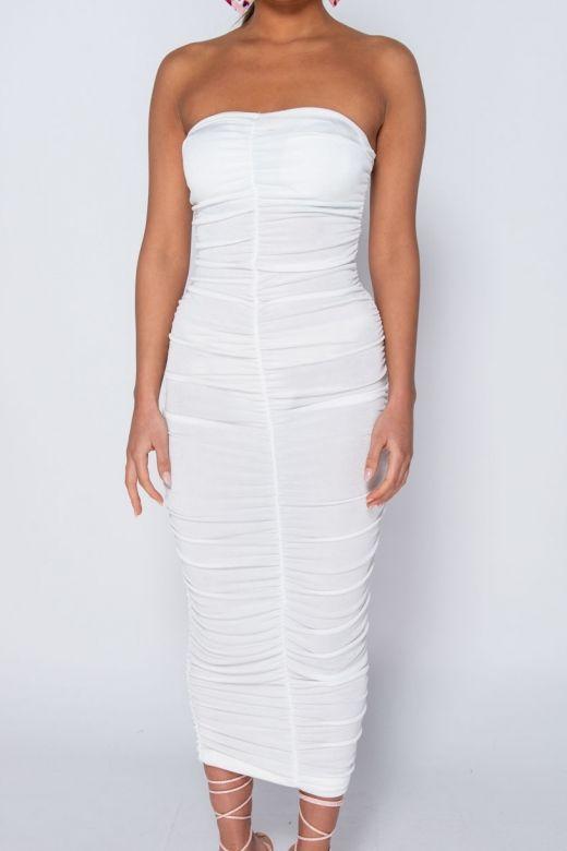 Rochie de Seara Slinky White Bogas