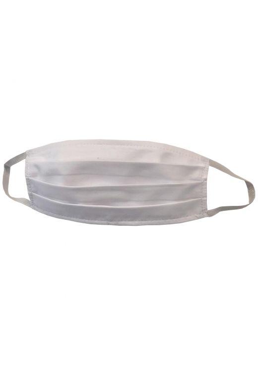 Set 5 masti de protectie reutilizabile, Bogas, alb, bumbac, 2 straturi