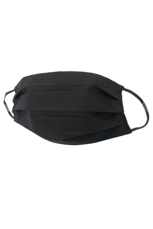 Set 5 masti de protectie reutilizabile, Bogas, negru, bumbac, 2 straturi