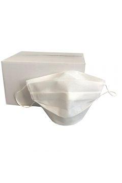 Set 10 masti de protectie de unica folosinta, Bogas, 2 straturi, polipropilena, alb