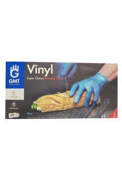 Set 100 Manusi Protectie Vinyl Blue Bogas
