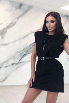Rochie de Zi Shoulders Black Bogas