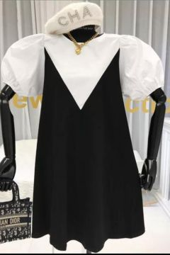 Rochie de Zi Pamfy White Black Bogas