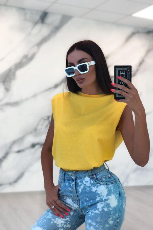 Tricou Shoulders Yellow Bogas