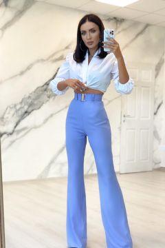 Pantaloni Reffy Mauve Bogas