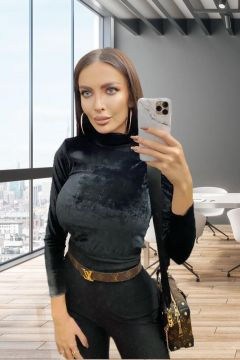Helanca Velvet Black Bogas