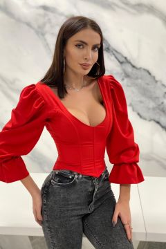 Corset Inimy Red Bogas